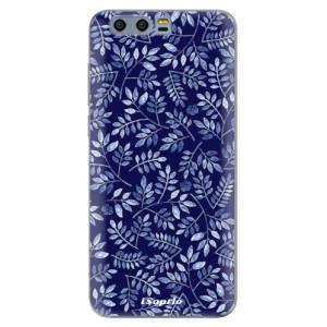 Silikonové pouzdro iSaprio (mléčně zakalené) Blue Leaves 05 na mobil Honor 9