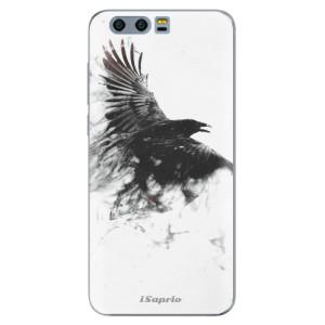 Silikonové pouzdro iSaprio (mléčně zakalené) Havran 01 na mobil Honor 9