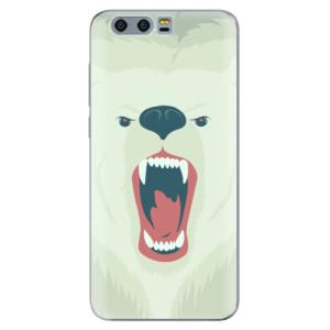 Silikonové pouzdro iSaprio (mléčně zakalené) Naštvanej Medvěd na mobil Honor 9
