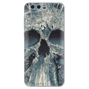 Silikonové pouzdro iSaprio (mléčně zakalené) Abstract Skull na mobil Honor 9