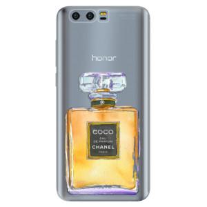 Silikonové pouzdro iSaprio (mléčně zakalené) Chanel Gold na mobil Honor 9