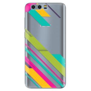 Silikonové pouzdro iSaprio (mléčně zakalené) Barevné Pruhy 03 na mobil Honor 9