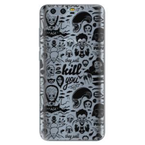 Silikonové pouzdro iSaprio (mléčně zakalené) Komiks 01 black na mobil Honor 9
