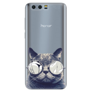 Silikonové pouzdro iSaprio (mléčně zakalené) Šílená Číča 01 na mobil Honor 9