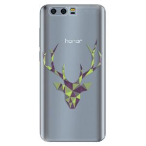 Silikonové pouzdro iSaprio (mléčně zakalené) Zelený Jelínek na mobil Honor 9