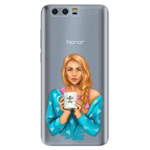 Silikonové pouzdro iSaprio (mléčně zakalené) Coffee Now Zrzka na mobil Honor 9