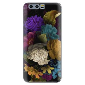 Silikonové pouzdro iSaprio (mléčně zakalené) Temné Květy na mobil Honor 9