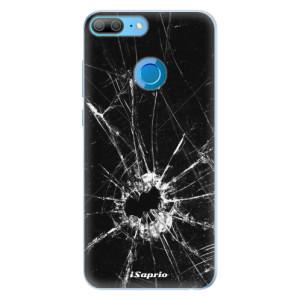 Silikonové pouzdro iSaprio (mléčně zakalené) Broken Glass 10 na mobil Honor 9 Lite