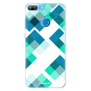 Silikonové pouzdro iSaprio (mléčně zakalené) Abstract Squares 11 na mobil Honor 9 Lite