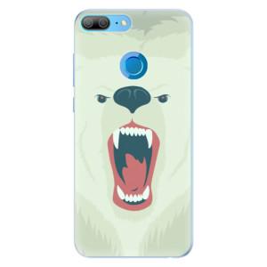 Silikonové pouzdro iSaprio (mléčně zakalené) Naštvanej Medvěd na mobil Honor 9 Lite