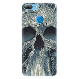 Silikonové pouzdro iSaprio (mléčně zakalené) Abstract Skull na mobil Honor 9 Lite