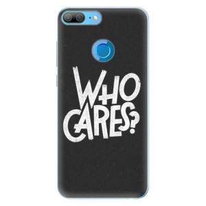 Silikonové pouzdro iSaprio (mléčně zakalené) Who Cares na mobil Honor 9 Lite