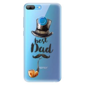 Silikonové pouzdro iSaprio (mléčně zakalené) Best Dad na mobil Honor 9 Lite