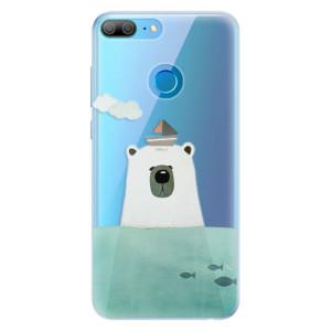 Silikonové pouzdro iSaprio (mléčně zakalené) Medvěd s Lodí na mobil Honor 9 Lite