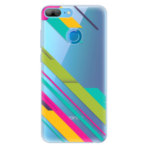 Silikonové pouzdro iSaprio (mléčně zakalené) Barevné Pruhy 03 na mobil Honor 9 Lite