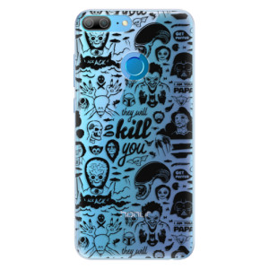 Silikonové pouzdro iSaprio (mléčně zakalené) Komiks 01 black na mobil Honor 9 Lite