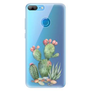 Silikonové pouzdro iSaprio (mléčně zakalené) Kaktusy 01 na mobil Honor 9 Lite