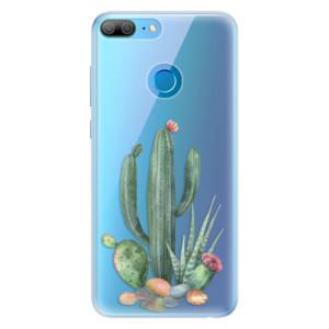 Silikonové pouzdro iSaprio (mléčně zakalené) Kaktusy 02 na mobil Honor 9 Lite
