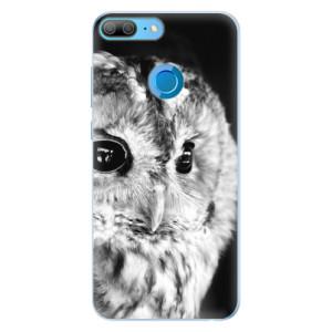 Silikonové pouzdro iSaprio (mléčně zakalené) BW Sova na mobil Honor 9 Lite