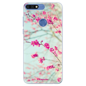 Silikonové pouzdro iSaprio (mléčně zakalené) Blossom 01 na mobil Honor 7C