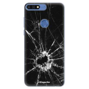 Silikonové pouzdro iSaprio (mléčně zakalené) Broken Glass 10 na mobil Honor 7C