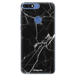 Silikonové pouzdro iSaprio (mléčně zakalené) Black Marble 18 na mobil Honor 7C