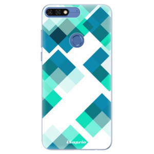 Silikonové pouzdro iSaprio (mléčně zakalené) Abstract Squares 11 na mobil Honor 7C