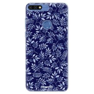 Silikonové pouzdro iSaprio (mléčně zakalené) Blue Leaves 05 na mobil Honor 7C