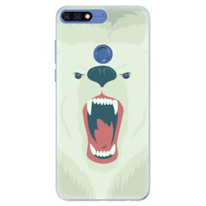 Silikonové pouzdro iSaprio (mléčně zakalené) Naštvanej Medvěd na mobil Honor 7C