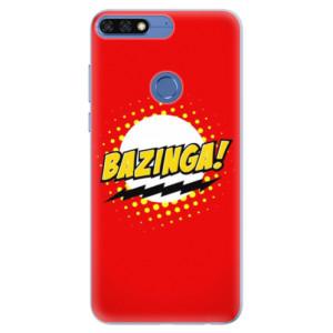 Silikonové pouzdro iSaprio (mléčně zakalené) Bazinga 01 na mobil Honor 7C