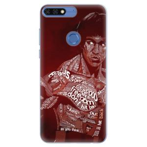 Silikonové pouzdro iSaprio (mléčně zakalené) Bruce Lee na mobil Honor 7C