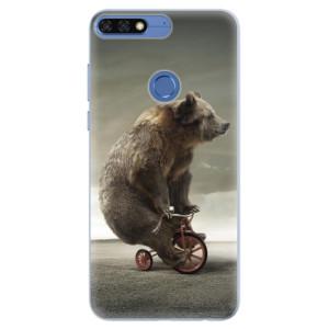 Silikonové pouzdro iSaprio (mléčně zakalené) Medvěd 01 na mobil Honor 7C