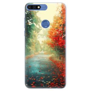 Silikonové pouzdro iSaprio (mléčně zakalené) Podzim 03 na mobil Honor 7C