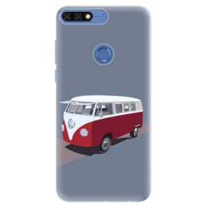 Silikonové pouzdro iSaprio (mléčně zakalené) VW Bus na mobil Honor 7C