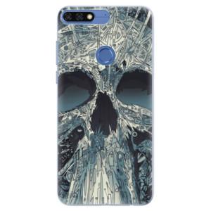 Silikonové pouzdro iSaprio (mléčně zakalené) Abstract Skull na mobil Honor 7C