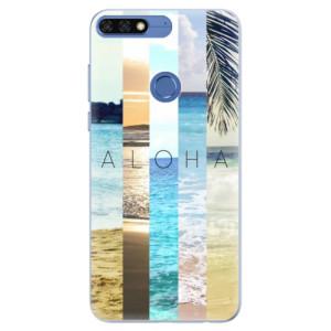 Silikonové pouzdro iSaprio (mléčně zakalené) Aloha 02 na mobil Honor 7C