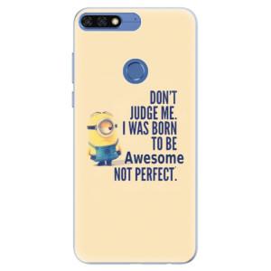 Silikonové pouzdro iSaprio (mléčně zakalené) Be Awesome na mobil Honor 7C