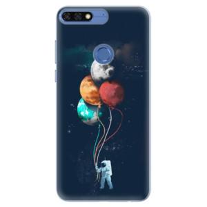 Silikonové pouzdro iSaprio (mléčně zakalené) Balónky 02 na mobil Honor 7C