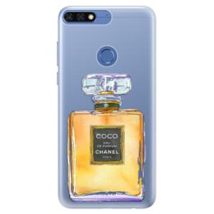Silikonové pouzdro iSaprio (mléčně zakalené) Chanel Gold na mobil Honor 7C