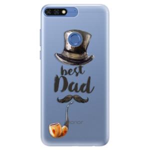 Silikonové pouzdro iSaprio (mléčně zakalené) Best Dad na mobil Honor 7C
