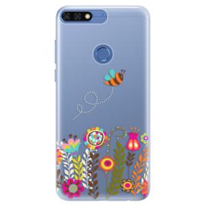 Silikonové pouzdro iSaprio (mléčně zakalené) Včelka Pája 01 na mobil Honor 7C