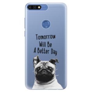 Silikonové pouzdro iSaprio (mléčně zakalené) Better Day 01 na mobil Honor 7C