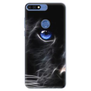 Silikonové pouzdro iSaprio (mléčně zakalené) Black Puma na mobil Honor 7C