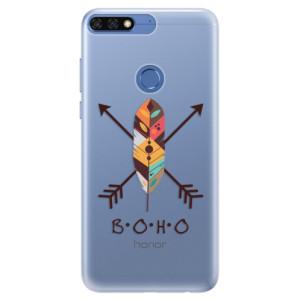 Silikonové pouzdro iSaprio (mléčně zakalené) BOHO na mobil Honor 7C