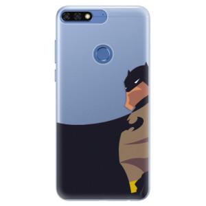 Silikonové pouzdro iSaprio (mléčně zakalené) BaT Komiks na mobil Honor 7C