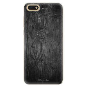 Silikonové pouzdro iSaprio (mléčně zakalené) Black Wood 13 na mobil Honor 7S
