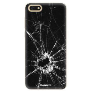 Silikonové pouzdro iSaprio (mléčně zakalené) Broken Glass 10 na mobil Honor 7S