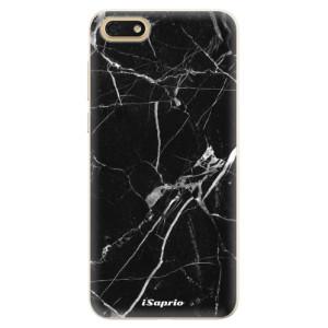 Silikonové pouzdro iSaprio (mléčně zakalené) Black Marble 18 na mobil Honor 7S