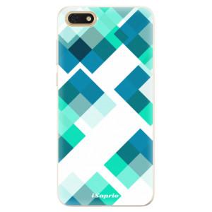 Silikonové pouzdro iSaprio (mléčně zakalené) Abstract Squares 11 na mobil Honor 7S