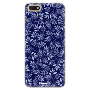 Silikonové pouzdro iSaprio (mléčně zakalené) Blue Leaves 05 na mobil Honor 7S